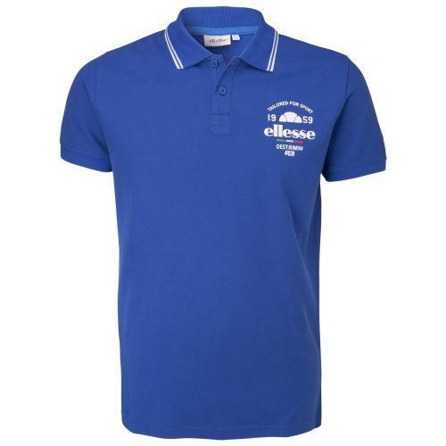 Sportieve herenpolo met een print op borsthoogte en een kleine badge op de mouw #ELLESSE #KIRK #POLO #summer #shirt