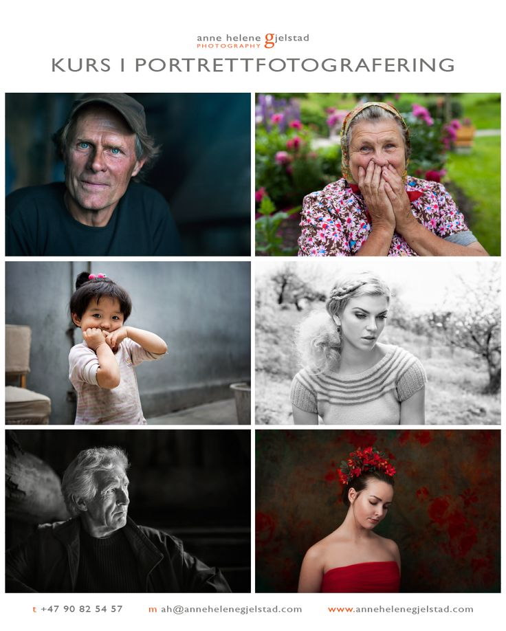 Velkommen på kurset mitt i portrettfotografering 8. - 10. april