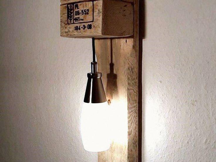 DIY-Anleitung: Mbel aus Paletten bauen / upcycling project for lamp made of pallets via DaWanda.com