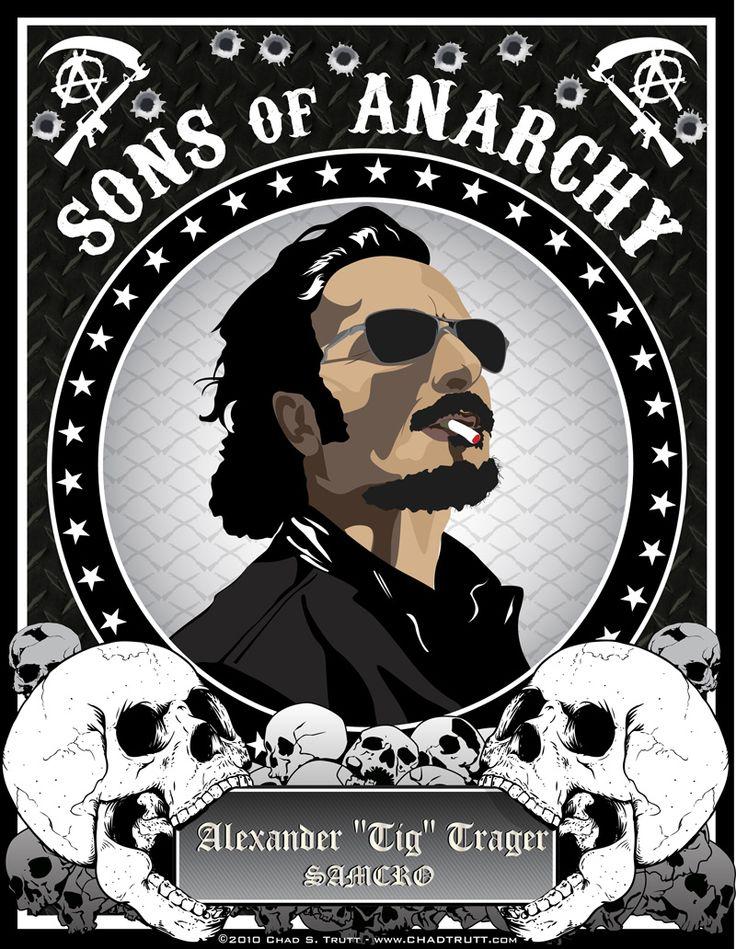 Sons of Anarchy (2008–) ~ Fan Art by Chad Trutt #amusementphile