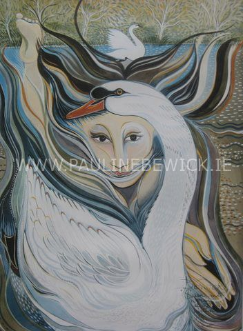 Pauline Bewick - Woman and Swan