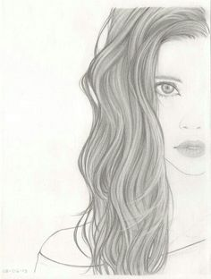 drawings of girls with pretty hair - Google Search