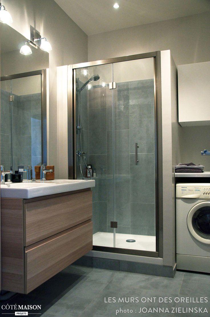 une salle de bains moderne avec une grande douche les plus belles salles de bains pinterest. Black Bedroom Furniture Sets. Home Design Ideas