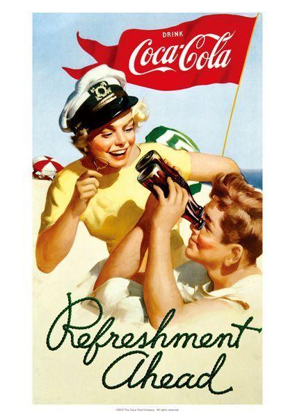画像1: ポスター コカコーラ Coca-Cola(リフレッシュメント/72x51cm)