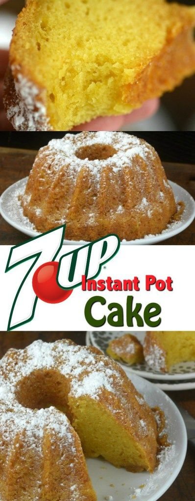 You are going to love how moist and delicious this 7-UP Instant Pot Cake turns out.  Pin for Later! #instantpot v#pressurecooker #baking #cake #dessert