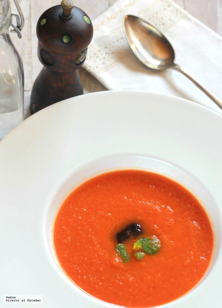 Crema de tomate, zanahoria y jengibre