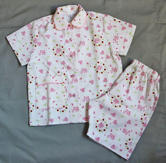 Pyjama d'été en coton T 2 et 4 ans