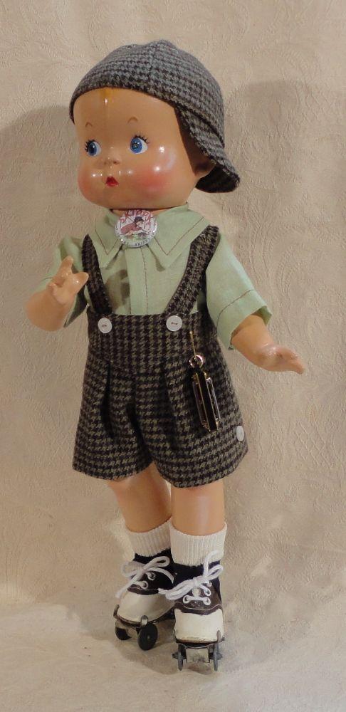 Vintage Skippy composition doll.