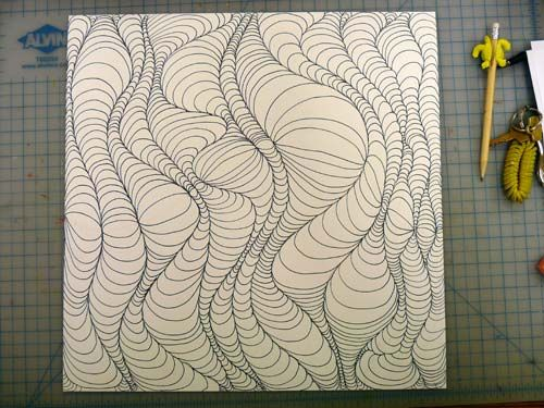 awesome optical art design how to. you can even color it in after!