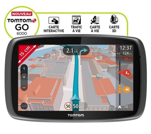 GPS Pixmania, achat TOMTOM Go 6000 Europe 45 Carte à vie Info Trafic GPS pas cher prix promo Pixmania 327.12 € TTC