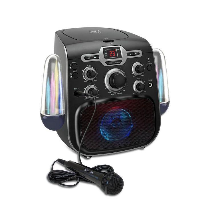 Bluetooth Karaoke Machine with LED Water Show, Black
