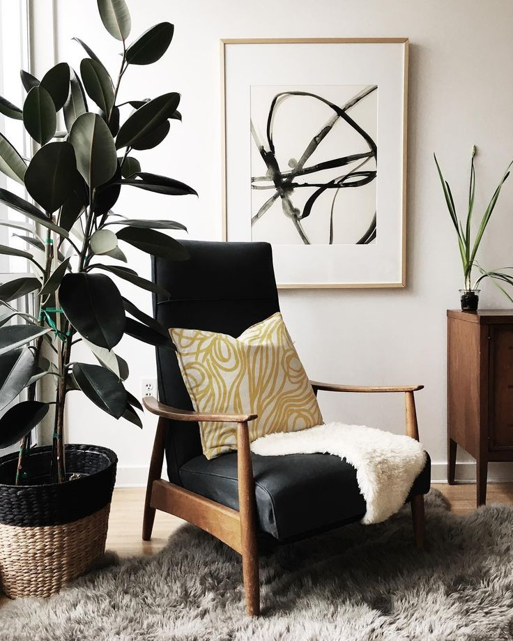 Plant Cell 1 by Mary Gaspar. Shop this look and more #MintedArt for your reading nook. Photo by Lindsay Stetson Thompson.
