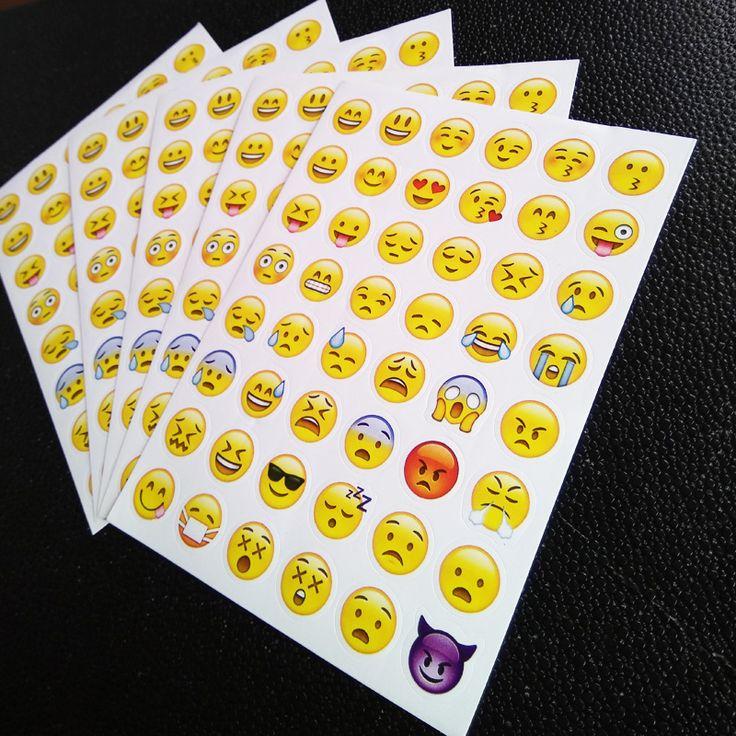 1シートステッカー48絵文字ステッカースマイルフェイスステッカー用ノートブック、メッセージtwitter大つる植物instagram笑顔おもちゃ