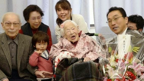Ekpo Esito Blog: Misao Okawa, world's oldest person dies today at 1...