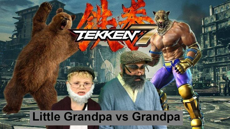The Best Tekken 7 Gameplay PS4 Review- Kuma vs King with LITTLE GRANDPA Great 2017 Christmas Gift - YouTube
