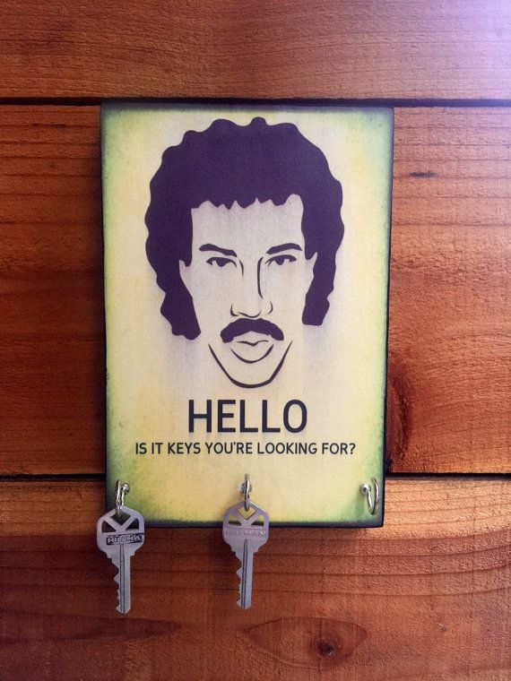SALE Key Holder LIONEL RICHIE Key Holder & Wood by BoWinston