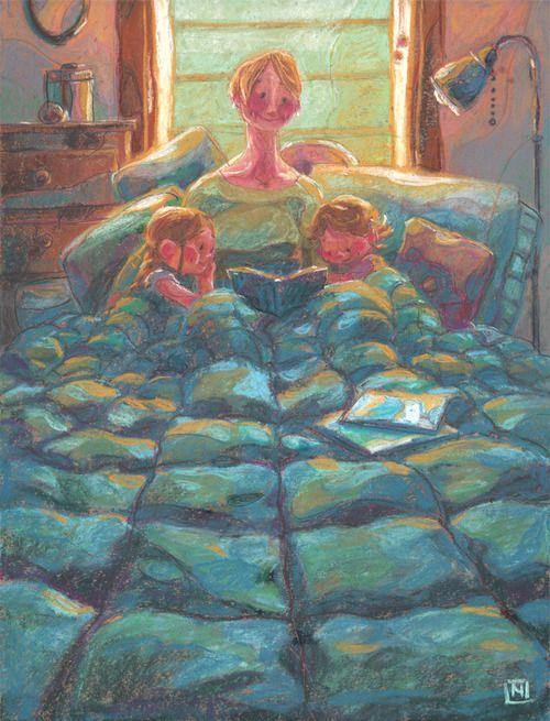 Mom, we read today? / Mamá, que leemos hoy? (ilustración de Noah Klocek)