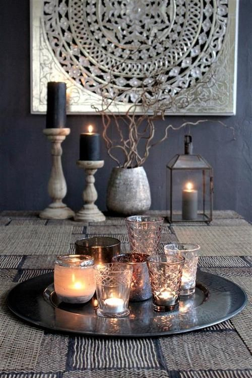 Home Decor | Mixing Metals Modern Moroccan can be nice too if you don't want all those colors Teachalady!
