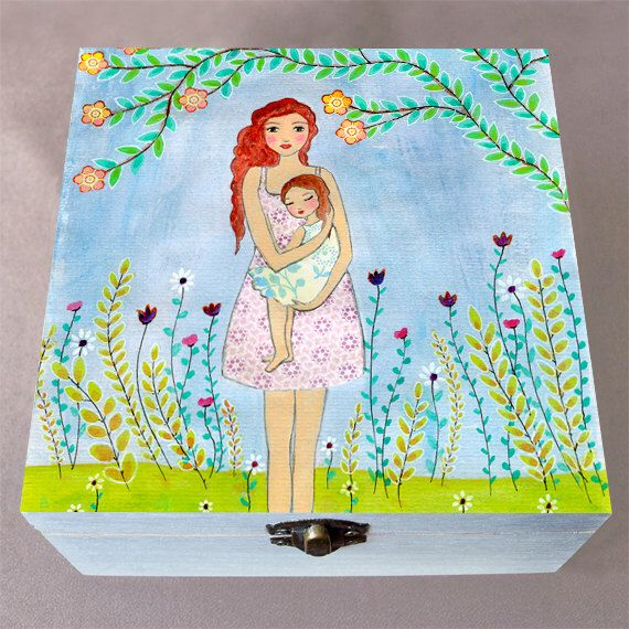 Keepsake Box, Memory Box, Baby Keepsake Box, Wood Keepsake Box, Mother Daughter Large Keepsake Box, Large Wooden Box, Gift for Mom by Sascalia on Etsy https://www.etsy.com/listing/232447671/keepsake-box-memory-box-baby-keepsake