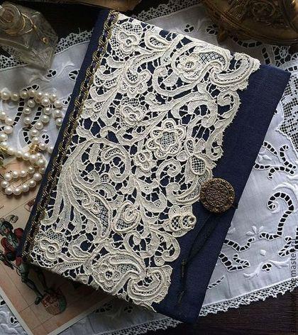 """Блокнот ручной работы """"Легенда о Единороге"""" - тёмно-синий,блокнот,блокнот ручной работы"""