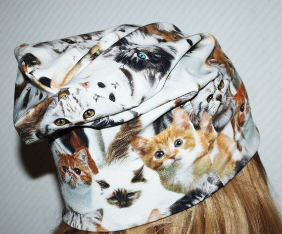 Cats slouch jersey beanie adult size   adult jersey by leonorafi