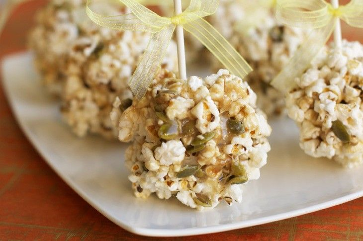 Angie's Popcorn Pepita Marshmallow Balls: a great use for pumpkin seeds & we can't say no to Angie's Popcorn!