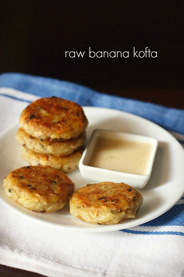 kachke kele ke kofte recipe with step by step photos. crisp, spiced pan fried patties made with raw unripe bananas or plantains. these koftas make for a nice brunch or snack.