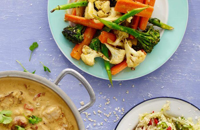 Wokade grönsaker som sätter färg på middagen