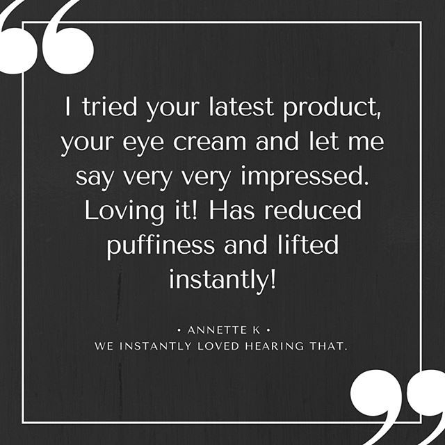 We love hearing what other think of our skin care