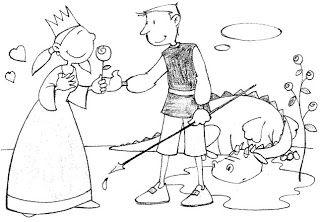 dibuix de la llegenda de sant Jordi