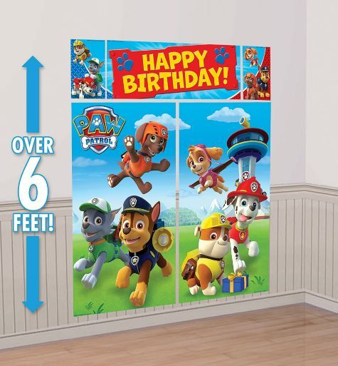 PAW Patrol Scene Setter 65in x 75in - only $6 @ Party City