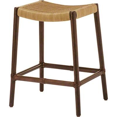 McGuire Designs: Curved Rattan Counter Stool:   Traditional   Bar Stools  And Counter Stools   San Francisco   McGuire Furniture Compan.