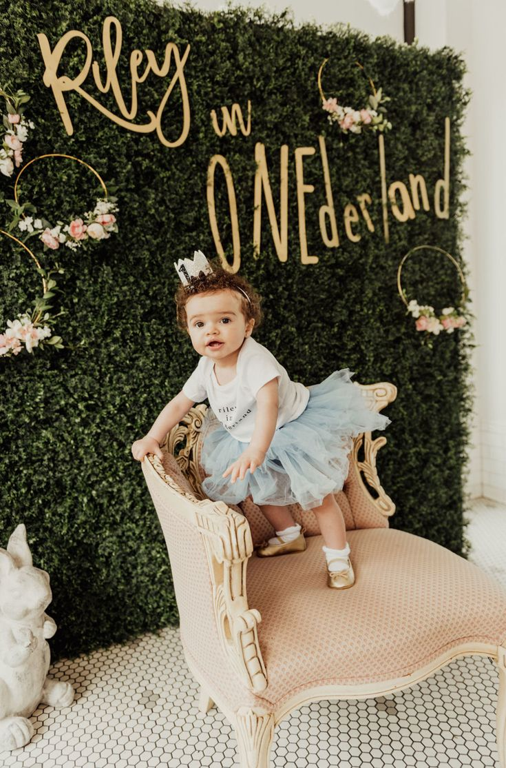 Delightful Alice in ONEderland Themed First Birthday Party
