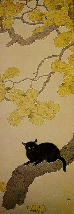 Kuroki Neko by Hishida Shunso