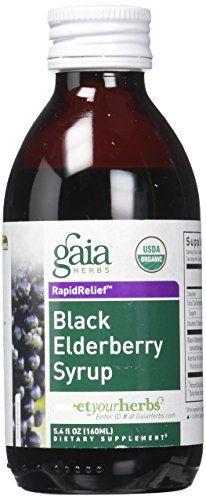Gaia Herbs Black Elderberry Syrup 5.4-Ounce Bottle