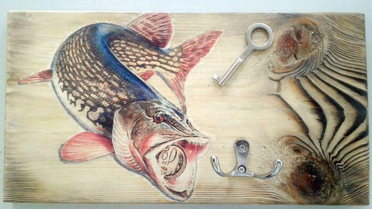 Ключница для рыбака на 50-летие