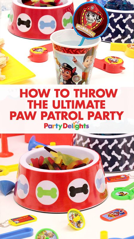 """Get all the inspiration you need to throw a """"paw-some"""" Paw Patrol party with our collection of decorating ideas, party food ideas, party game ideas and more. See the whole birthday party at blog.partydelights.co.uk."""