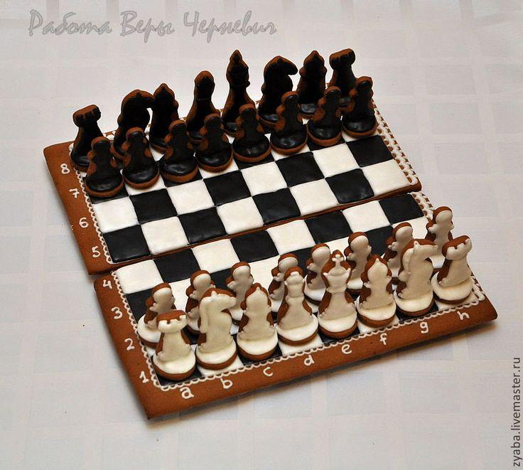 Шахматы - пряничная шкатулка - пряник,расписные пряники,имбирное печенье