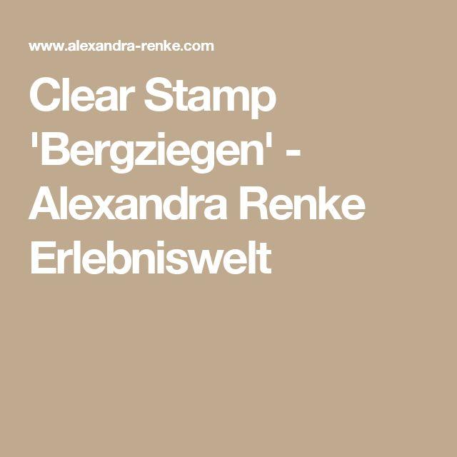 Clear Stamp 'Bergziegen' - Alexandra Renke Erlebniswelt