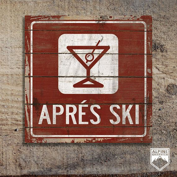 APRES SKI Original Alpine Graphics Illustration by AlpineGraphics, $39.00
