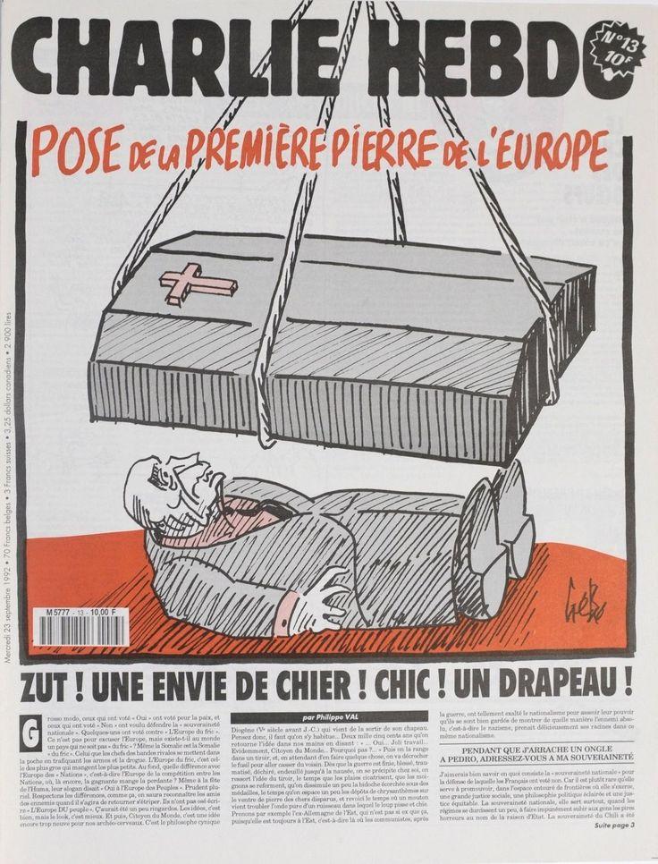Charlie Hebdo - # 13 - 23 Septembre 1992 - Couverture : Gébé