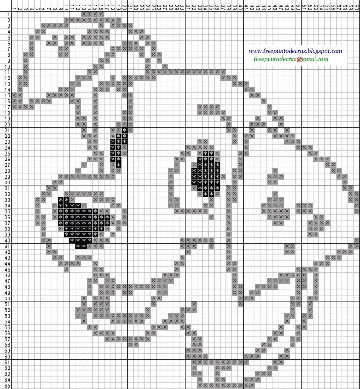 101 Dalmatians hama perler beads pattern -  Dibujos Punto de Cruz