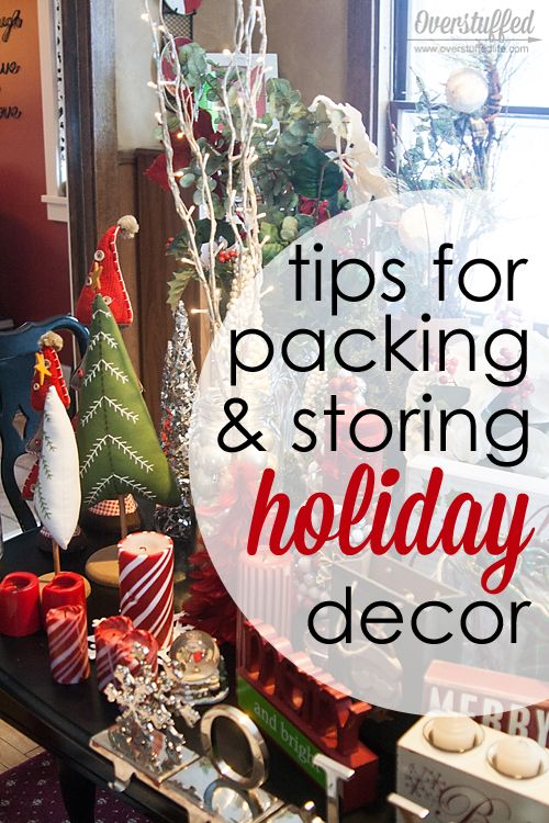 Tips for Packing Up and Storing Holiday Decorations. It's fun to put up, not so much to take down. Here are some great tips for keeping it organized!