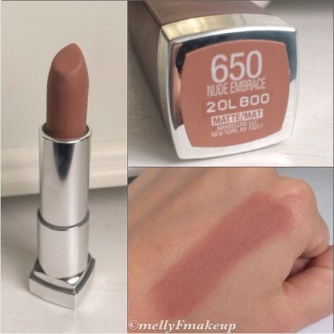 Maybelline Color Sensational Creamy Mattes in Nude Embrace. Follow my instagram @mellyfmakeup