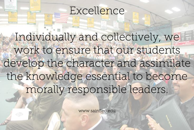 saint leo university core values and As the first florida catholic university, saint leo's core values are representative of our catholic heritage the cafeteria wall reminds us of our core values.