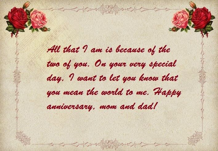 Happy Anniversary Wishes Status For Mom Dad Wedding Anniversary