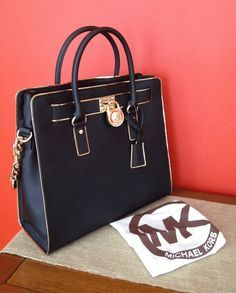 #CelebrateWith Let Michael Kors Hamilton Specchio Large Black Totes With High Quality And Fast Delivery Bring You Wonderful