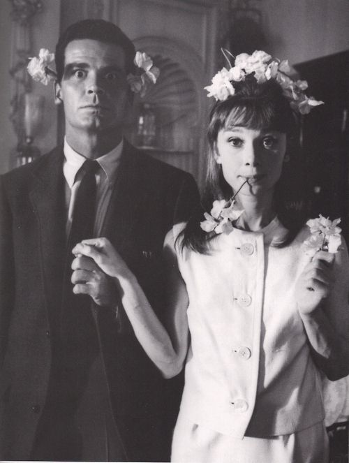 +Flower Crowns, Audrey Hepburn, James Garner, Silly Pictures, Wedding Photos, Flower Power, Audreyhepburn, People, Flower Girls