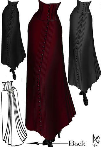 Steam Punk Victorian Corset Skirt