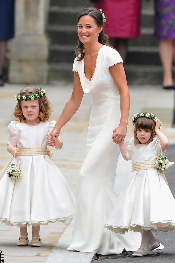 """Just before my brother's wedding he and my sister in law were a little worried about the flower girls going down the aisle. I offered to have them  walk with me if anyone felt they needed to. My sister in law told her mom I offered to """"Pippa""""  the girls down the aisle."""